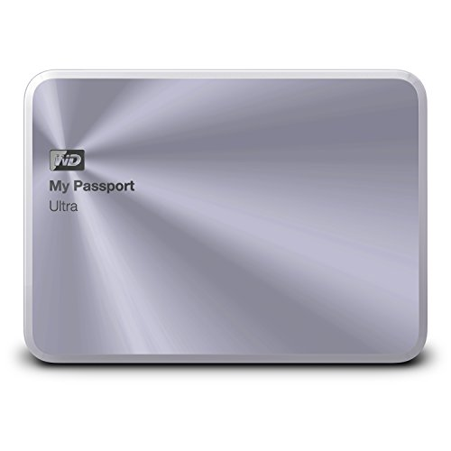 WD 2TB Silver My Passport Ultra Metal Edition