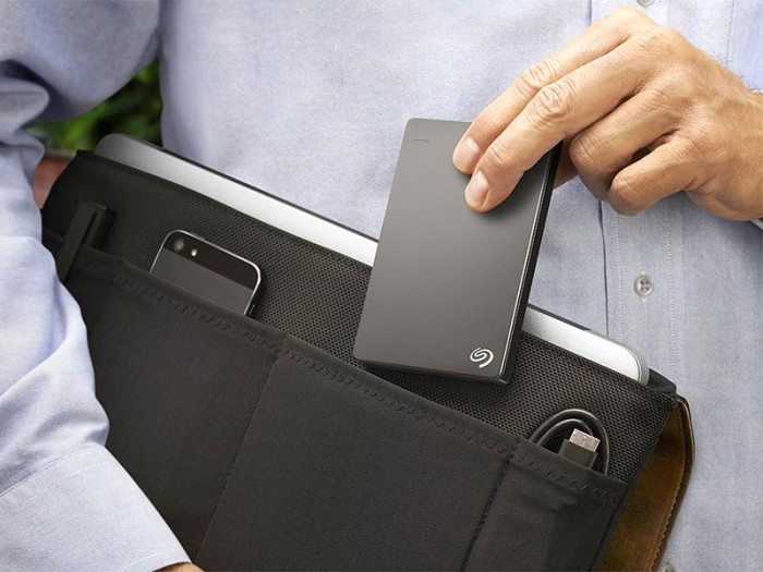Seagate Backup Plus Slim In Hands