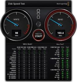 WD My Passport Pro Speed test RAID 1