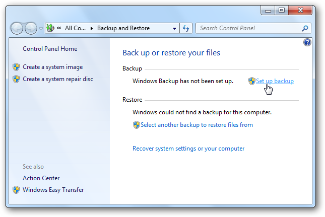 Backup On Windows
