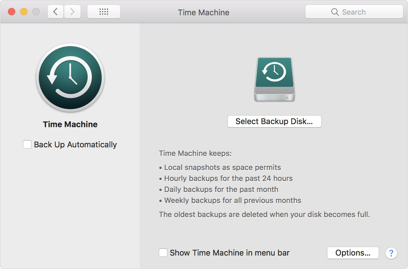 Backup On a Mac