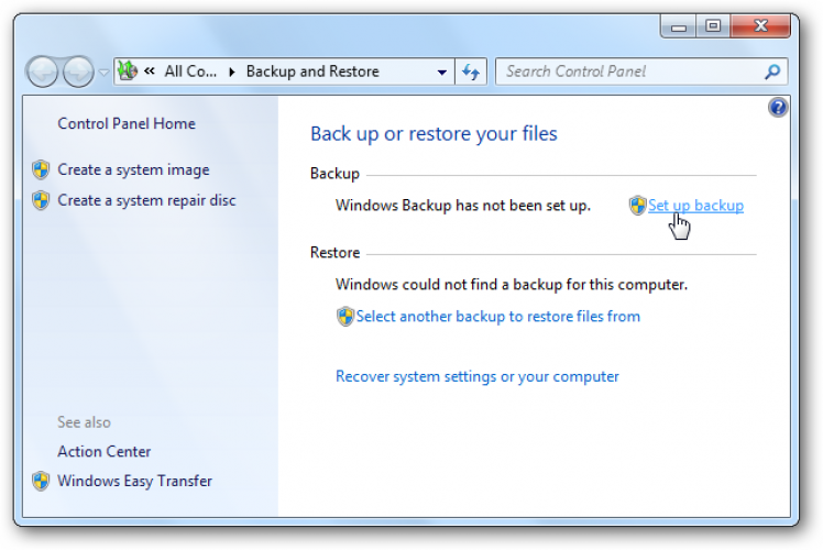 backup drive on windows